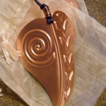 Copper Leaf Ornament