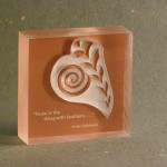 Leaf Paper Weight – Copper Backed